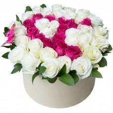 Коробка Буква из роз